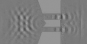 Double slit experiment with Phonons